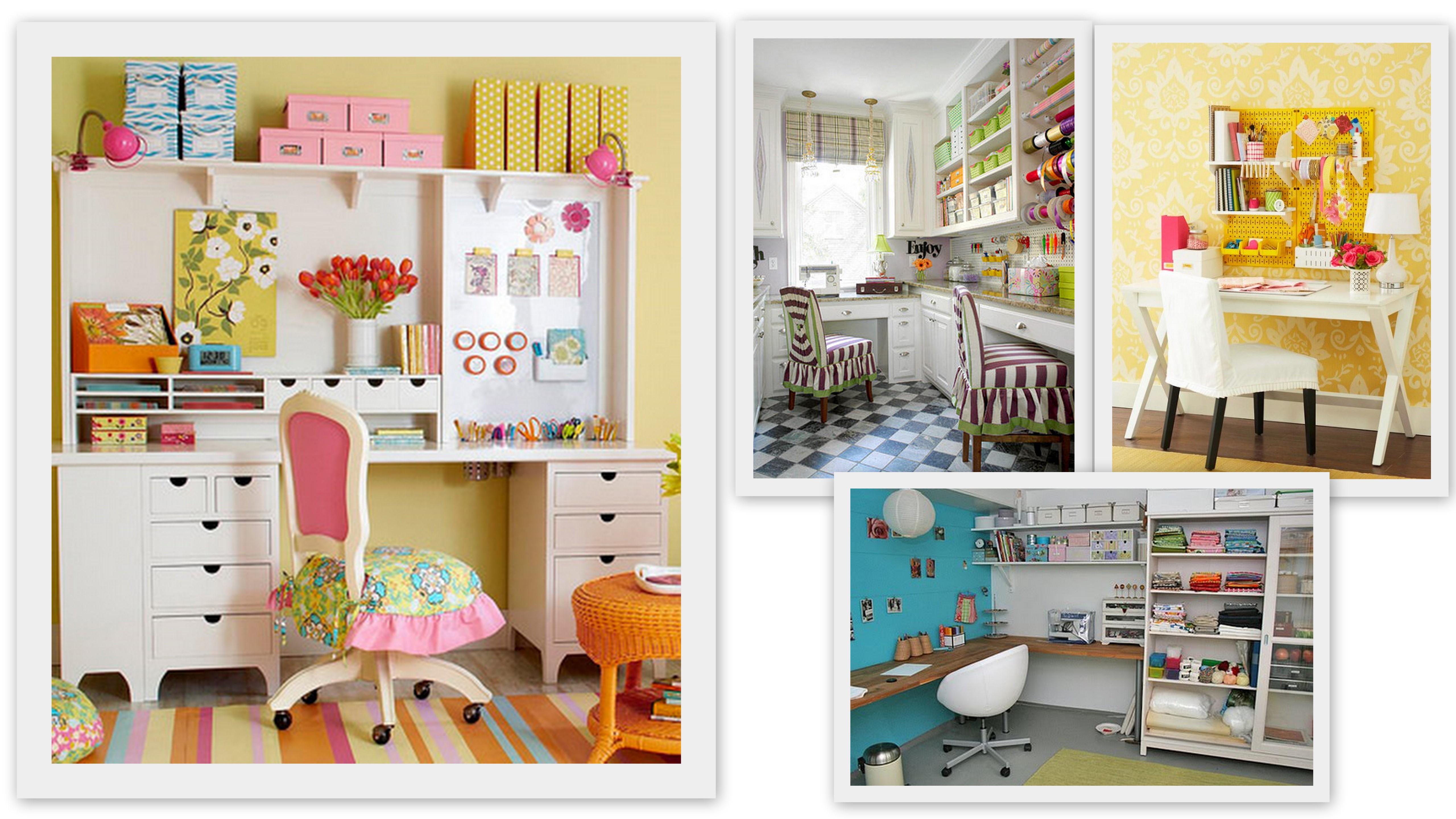Craft room dicas id ias e fotos for Paginas para decorar casas